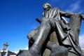 Картинка Новая Зеландия, памятник, фонарь, Данидин, Роберт Бернс статуя