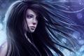 Картинка девушка, снег, волосы