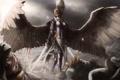 Картинка поле брани, войны, ангел, арт, меч, девушка