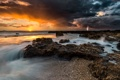 Картинка море, гроза, пейзаж, закат