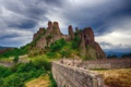 Картинка небо, горы, тучи, крепость, Болгария, Белоградчик