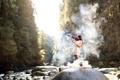 Картинка девушка, музыка, скрипка, дым