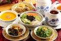 Картинка суп, посуда, японская кухня, овощи, чай, ассорти, блюда
