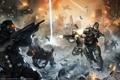 Картинка город, огонь, здания, солдаты, перестрелка, Killzone: Mercenary, Guerrilla Cambridge