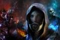 Картинка коллаж, Miranda Lawson, Tali Zorah, Mass Effect, Garrus Vakarian, Thane Krios
