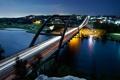 Картинка ночь, мост, огни, река, USA, Austin, Texas