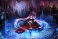 Картинка Moonlight, скрипка, девушка, ночь