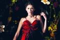 Картинка взгляд, девушка, платье, актриса, Nina Dobrev
