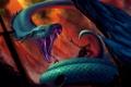 Картинка человек, монстр, зубы, Змея, арт, хвост, ловушка