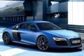 Картинка Audi, Авто, Ауди, Синий, V10, Спорткар, Plusx
