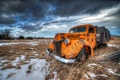 Картинка Orange, snow, truck