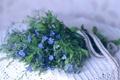 Картинка цветы, букет, синие
