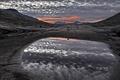 Картинка закат, облака, небо, Норвегия, Jotunheimen National Park, озеро, Norway