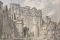 Картинка дома, картина, акварель, городской пейзаж, Кентербери, Уильям Тёрнер, Ворота церкви Христа
