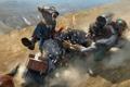 Картинка дорога, осколки, оружие, движение, конь, лошадь, шляпа