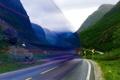 Картинка дорога, цвет, эффект