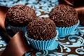 Картинка пирожное, присыпка, шоколадные шарики