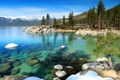 Картинка лес, горы, природа, озеро, камни