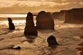 Картинка обрыв, океан, скалы, побережье, национальный парк