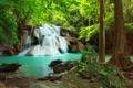 Картинка лес, nature, река, beauty, waterfall, водопад, природа