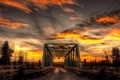 Картинка пейзаж, мост, ночь
