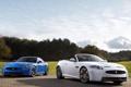 Картинка синий, ягуар, небо, Convertible, Jaguar, кабриолет, XKR-S