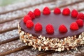 Картинка десерт, малина, орехи, сладкое, торт
