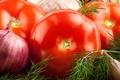 Картинка лук, укроп, овощи, помидор, чеснок, cabbage, tomato