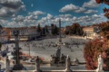 Картинка дома, Рим, Италия, фонтан, мостовая, обелиск, Пьяцца-дель-Пополо