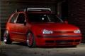 Картинка красный, тюнинг, Volkswagen, гольф, посадка, GTI, low