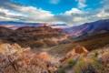 Картинка облака, природа, скалы, каньон