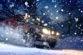 Картинка land rover, Dirt 3, снег, ночь, скорость