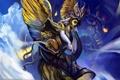 Картинка крылья, ангел, Chen Wei, рог