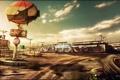 Картинка небо, пустыня, кафе, пустош, Dead Rising 2