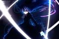 Картинка девушка, оружие, меч, аниме, арт, бант, urami