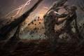 Картинка гроза, оружие, монстр, арт, пасть, схватка, Riddick