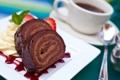 Картинка кофе, еда, шоколад, клубника, чашка, крем, десерт