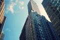 Картинка окна, облака, здания, небо, бетон., Нью Йорк, небоскребы