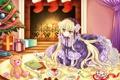 Картинка книги, подарки, медвежонок, ёлка, конфетки, gosick, victorique de broix