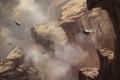Картинка горы, насекомые, скалы, крылья, арт, существа, ущелье