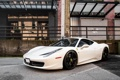 Картинка Ferrari, white, 458, italia, road, parking, building