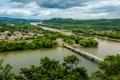 Картинка река, панорама, мосты, Пенсильвания, Pennsylvania, Northumberland, Нортумберленд