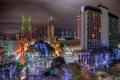 Картинка ночь, Christmas, night, Downtown, usa, Texas, Holiday