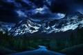 Картинка природа, лес, горы, дорога