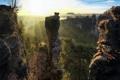 Картинка горы, Saxon Switzerland, солнце