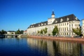 Картинка небо, река, Польша, университет, Вроцлав