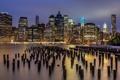 Картинка ночь, город, New York
