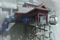 Картинка снег, азия, здание, высота, фонари, фуникулер, Dreamfall: The Longest Journey
