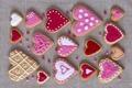 Картинка праздник, печенье, сердечки, love, pink, выпечка, hearts