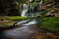 Картинка вода, скала, поток, США, Западная Вирджиния, Blackwater Falls State Park, водопад Элакала
